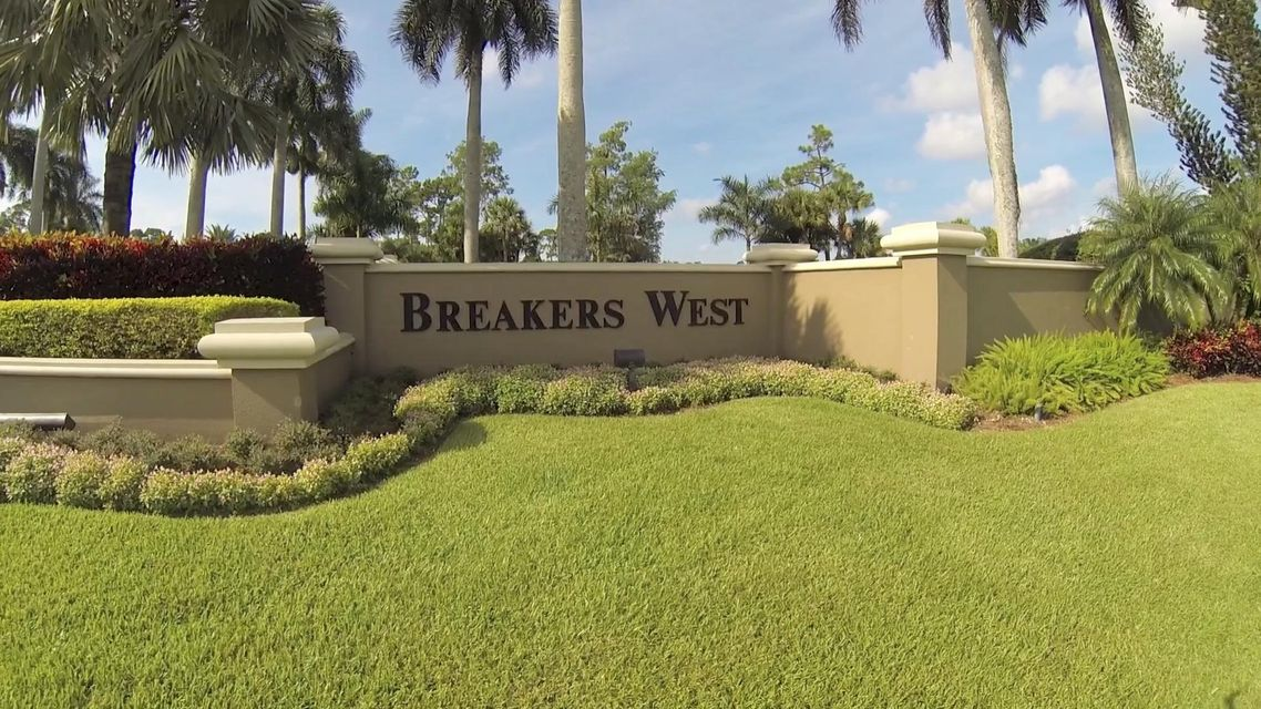 Breakers West Entrance Sign