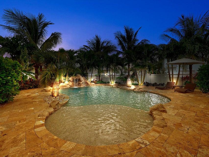 Oasis Pool Lit Up