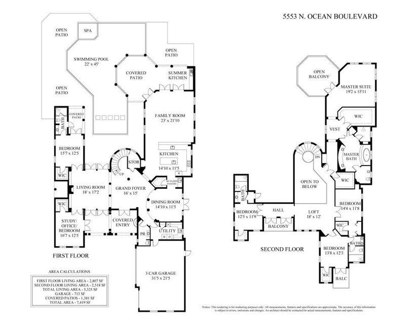 5553 n ocean - floor plan