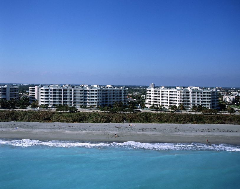 Here is a rare opportunity to buy a penthouse oceanfront condo in the highly desirable Jupiter Ocean Grande. These penthouse units offer spectacular turquoise ocean views and are rarely available. Enjoy this spacious unit which features a large open floor plan, tile floors in the living areas, granite counter-tops, stainless steel appliances, and hurricane windows and doors throughout. Each room has its own private bathroom and balcony. The large master suite features sliding glass doors which lead out to the large terrace directly overlooking the ocean. Master bath offers separate shower, roman tub, and double sinks. Gorgeous newly renovated lobby. Amenities include a 24-hour manned gated entrance, resort style pool and spa, fitness center, club room, billiard room, tennis courts, card room, 2 garage spaces and secured storage space. Large dogs welcome. Close to fine dining and shopping. Pet friendly beach.