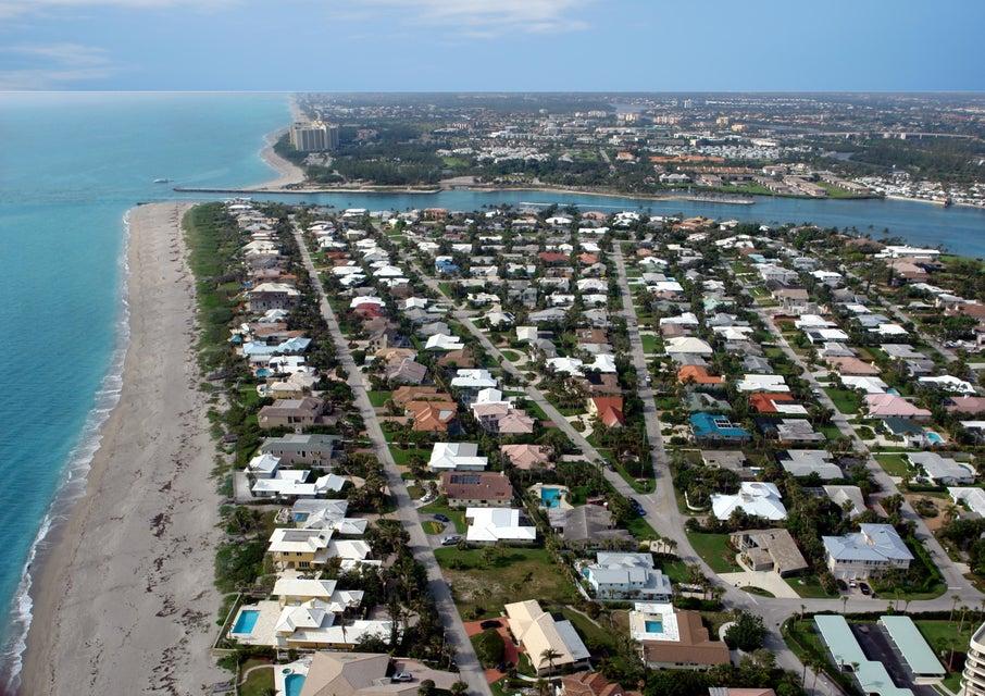 Aerial of Jupiter Inlet Colony