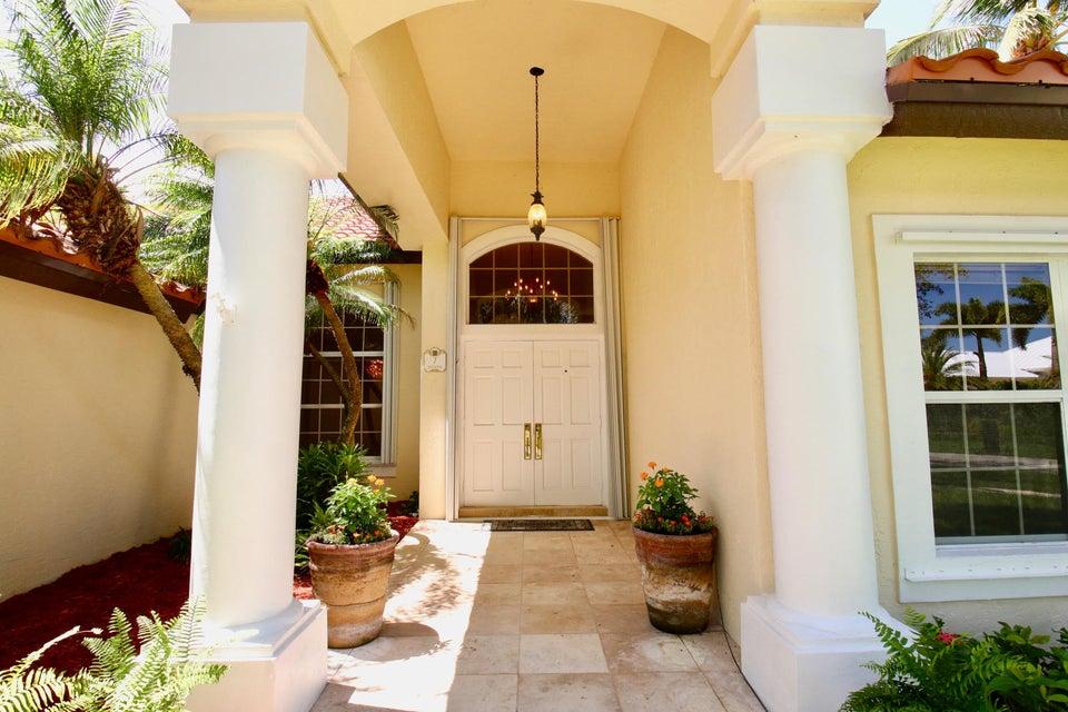 Welcoming elegant double door entry
