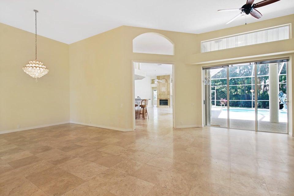 Casual living area through double doors