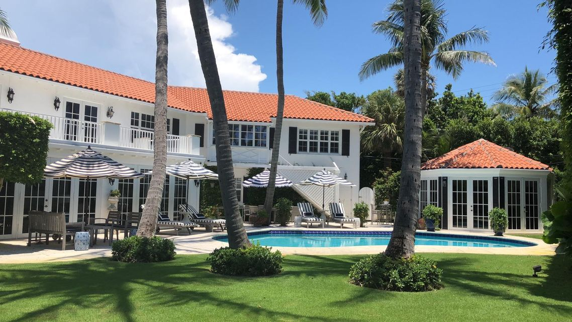 Side view with pool and Guest House