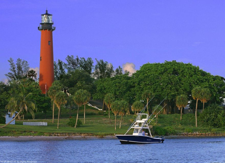 Jupiter Lighthouse with Boat a 2010 AAP