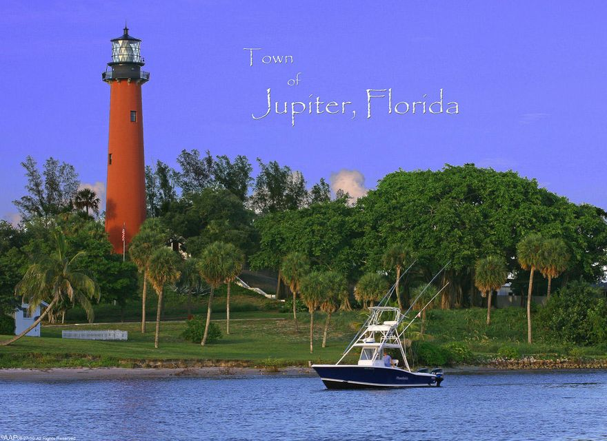 Jupiter Lighthouse with Boat b text 2010