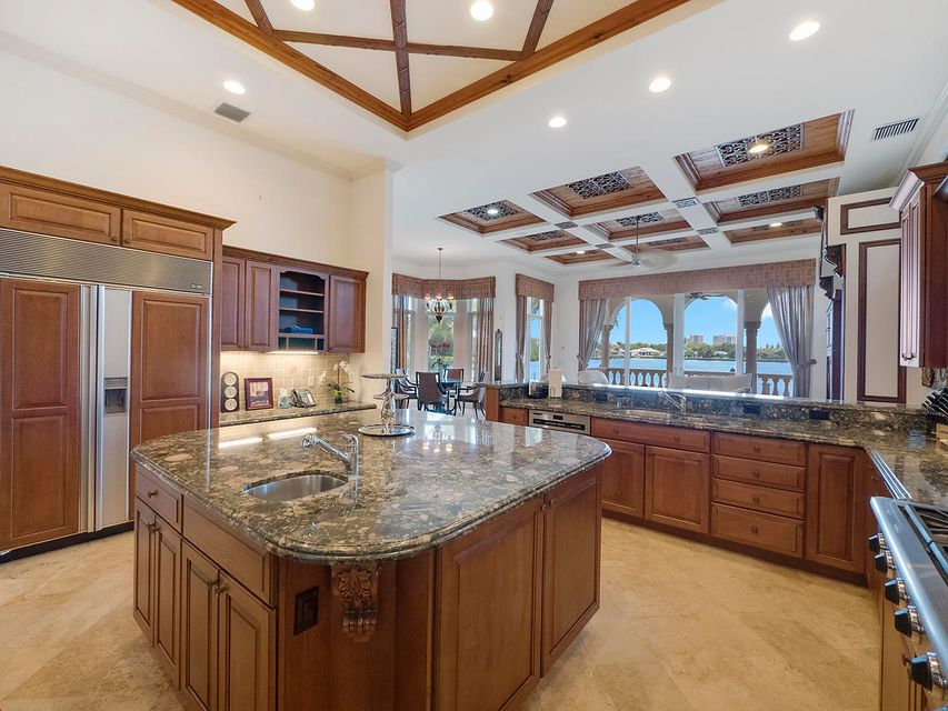 Kitchen with water views