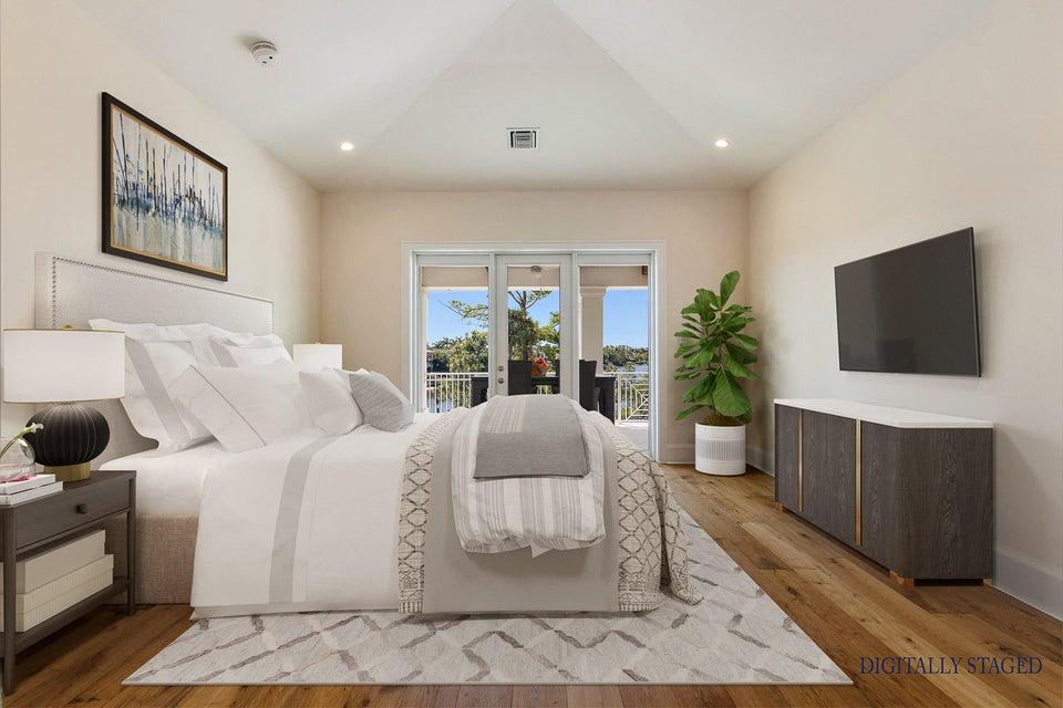 Digitally Staged Master Bedroom
