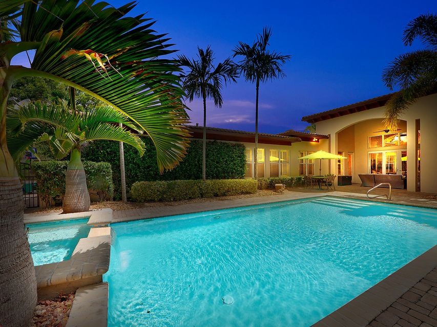 Evening Pool View