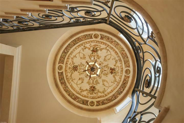 Dome Ceiling with Hand Painting