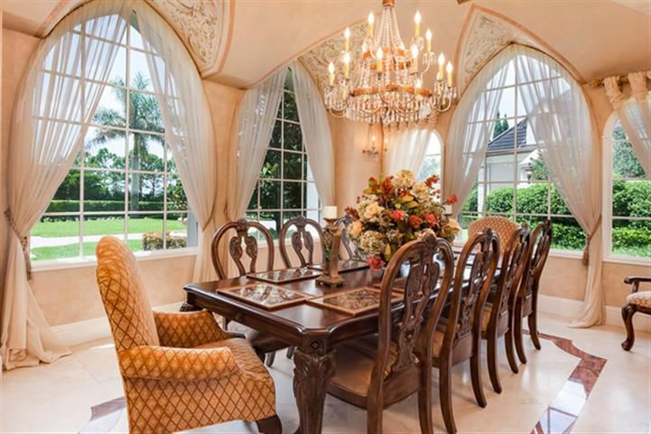 Hand Painted Dining Room with Onyx*