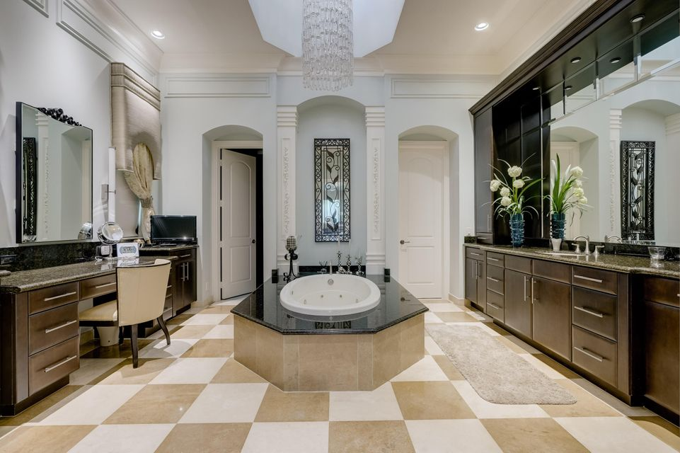 Her bath with very large custom closet