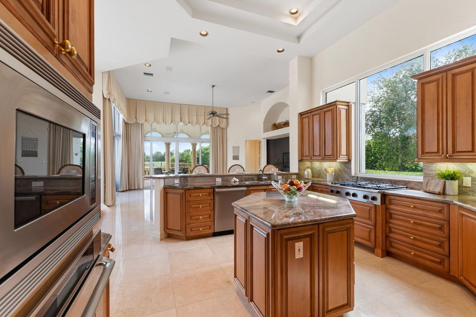 Kitchen overlooking family room