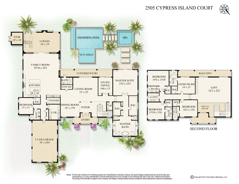 2505 Cypress Island Court, Wellington, Florida 33414, 6 Bedrooms Bedrooms, ,7.1 BathroomsBathrooms,Single Family,For Sale,Palm Beach Polo and Country Club,Cypress Island,RX-10477319