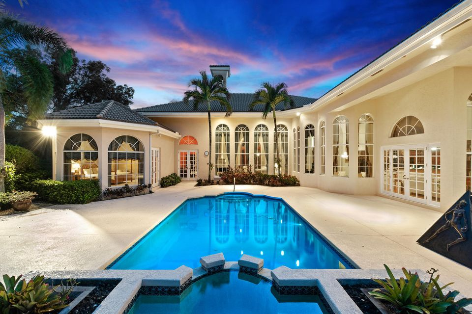 Evening Pool and rear view