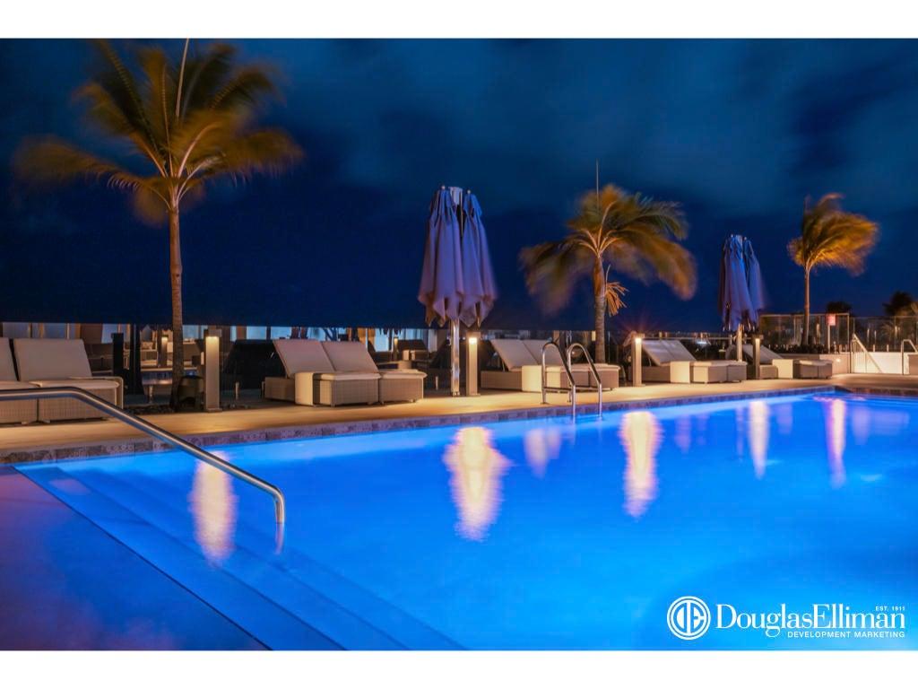 1.023 VistaBlue Pool Night