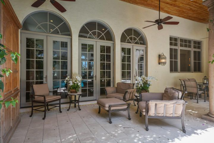 Covered patio inside Courtyard