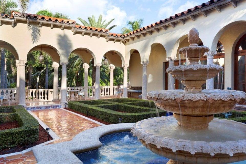 Interior courtyard fountain