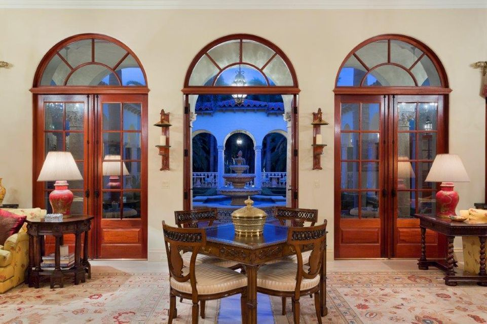 French doors to the courtyard