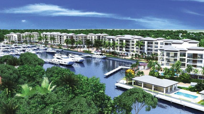 Large luxury residences with views of Loggerhead Marina.