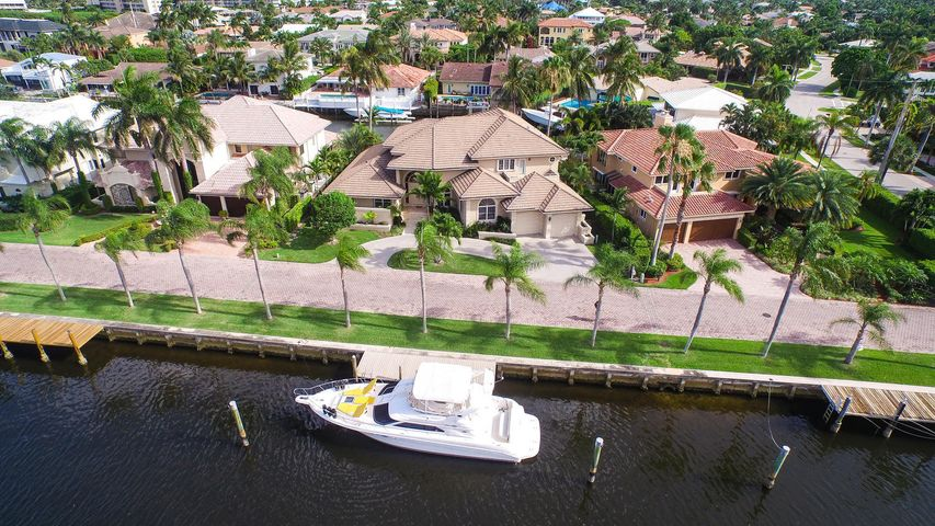 Unique waterfront estate home with over 180 feet of deep water