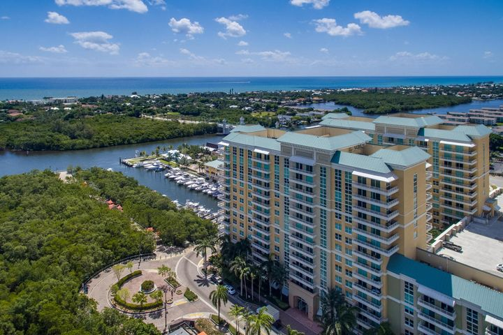 This unit is next to top floor. Faces north with 180 degree views of Intracoastal and Atlantic Ocean.