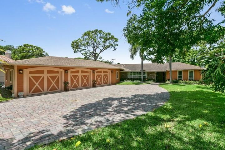 3.5 Car Garage with long driveway