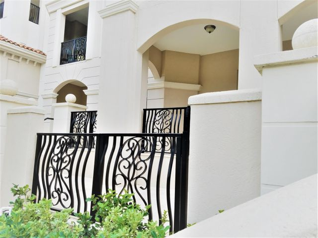 Detail of the dual level terraces from your private entry gate.