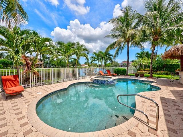 Resort pool overlooking lake
