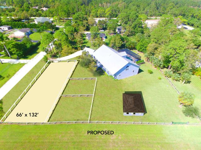 PROPOSED: Dressage Ring 132X66, 3 Stall Barn with Tack Room, 2-1/2 Paddocks