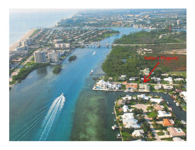 1st BLUE water canal north of Jupiter Inlet