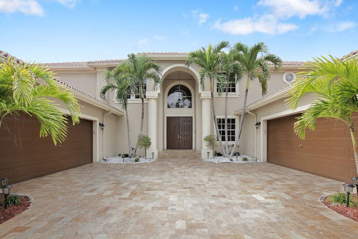 Majestic luxury Estate in Boca Falls surrounded by A-rated schools. No membership equity required! With beautiful landscape, huge driveway, 4 car garage, solar pool heating, media room and 20' volume ceiling.First floor has a spacious Master Suite with custom built his & hers closet, double sink, separate shower and an extra bedroom that could easily be used as an office/den, plus 2 half baths. Second floor is embraced with 5 large bedrooms: Second Master Suite, 2 bedrooms with a Jack & Jill, plus 1 more bedroom being used as gym. All bathrooms are stylish and remodeled. Storage is plentiful throughout the house with roomy walk-in pantry and laundry room. This is a life time opportunity to experience the pinnacle of luxury living! First floor has a Majestic Master Suite with expansive his & hers closet, double sink, separate shower and an extra bedroom that could easily be used as an office/den, plus 2 half baths. Second floor is embraced with 5 large bedrooms: Second Master Suite, 2 bedrooms with a Jack & Jill, plus 1 more bedroom being used as gym. All bathrooms are stylish and remodeled. Storage is plentiful throughout the house with spacious walk-in pantry and laundry room. This is a life time opportunity to experience the pinnacle of luxury living!