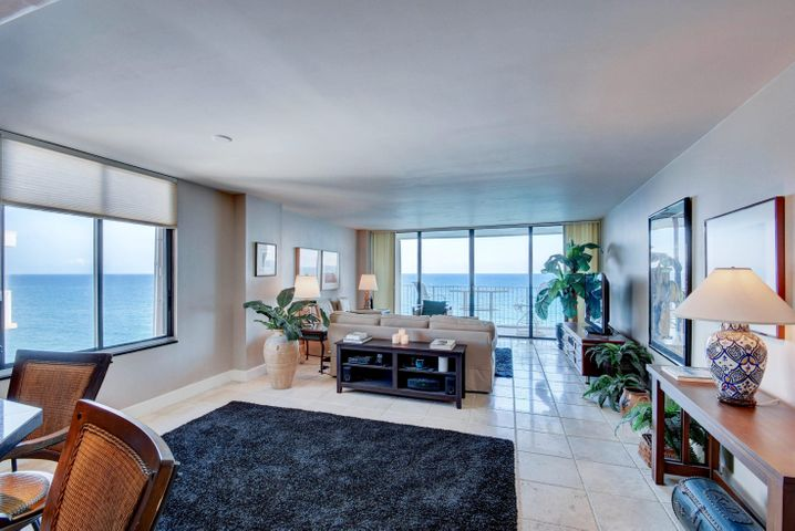 Beautiful Ocean Views from this well maintained oceanfront building . Blue inviting waters can be seen from the kitchen, living/dining and family room. Direct East Ocean Views as far as the eye can see!