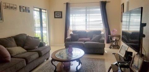 Tiled living area