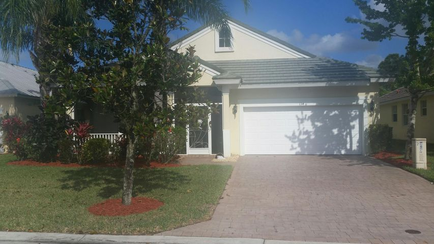 Resort Style Community located in St. Lucie West in Port St. Lucie, FL. Diverse Community with amenities for everyone of all ages. Gorgeous Clubhouse, Large community pool and spa. Tennis Courts, children Playground, Volleyball court, exercise room and Game room. Lots of fun here for all. Pets Yes! The house is spacious with lovely L shaped front screened porch. Screened in back Porch off of family room. Master Bedroom enclosed Large shower with built in seat. Large roman tub, separate enclosed toilet area, dual sinks with Ladies vanity and Large oval Roman Tub. Home is light and bright and neutral. Laundry room off kitchen. Breakfast bar and breakfast area. Large front foyer, formal dining and living and family room off kitchen. Bedrooms are quite spacious with Master  Bedroom boasting Tray ceiling and Huge Walk in Closets 3! With Mirror frontage.  This is a home that has never been smoked in and has only been lived in 2 weeks out of the year since 2008.  Home is Neutral colors. Wooden Blinds throughout the house and verticals on sliders. Recently painted. Photos do not do the home Justice. Come, make arrangements to see this lovely home in a much desired Magnolia Lakes in St. Lucie West! Close to Traditions and Florida Atlanta University as well as Indian River Community State College. Close to shopping, Pubix, TJ Max,  Restaurants, the movies. Everything is here and more in St. Lucie West.