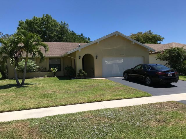 Immaculate & popular LARCHMONT model!Over 1700 A/C sq.ft. NEWER: Water Heater 2018, Refrigerator 2017, Cook Top Range/Oven 2017, 4 ton A/C in 2016, Washer 2016, Bosch (top of the line!)Dishwasher 2012!! Alarm system!Motion/light censored detectors in front & back of house! Whole interior of home freshly painted! Ceramic tile throughout in this superbly maintained home in Beautiful Greenbriar on a fantastic park view lot affording privacy & tranquility! Large screened & tiled patio with Roll-a-den shutters! Move in to this lovely home with just your toothbrush, and then enjoy the Clubhouse, pool, tennis courts with NO mandatory membership and reasonable HOA fees!!