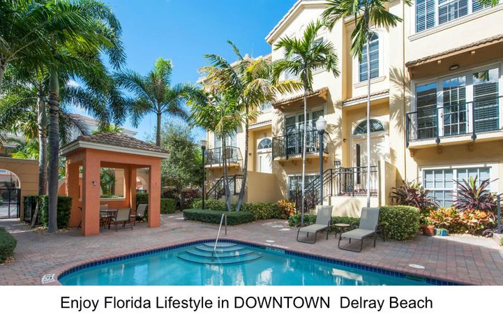 If proximity to the vibrant city life in East Delray Beach & blue waters of the Intracoastal Waterways, the Atlantice Ocean & romantic beaches is what you're after, this property is PARADISE FOUND.   This spacious 3 Bedroom, 3 & Half Bath with 2 car garage townhome is an impeccable property situated in sought-after location East of US1 in Delray Beach. This townhome was recently renovated & offers stylish design with high end quality furnishings and lifestyle of unrivaled Downtown Delray Beach with walking proximity to the beach and the famed Atlantic Ave. known for dazzling downtown flair.    PROPERTY IS IN IMMACULATE CONDITION.