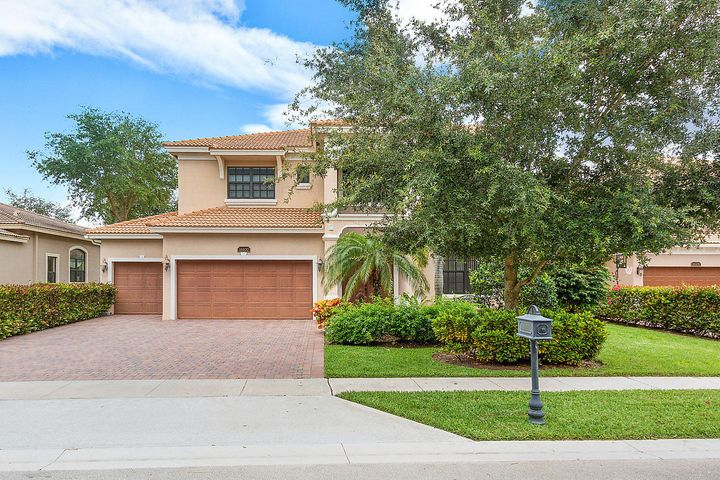 2 story San Remo model w/5 bedrooms 4 bath & 3 car garage. OVER $60,000 IN BUILDER OPTIONS!  IMPACT GLASS THROUGHOUT. This home features volume & tray ceilings, a lovely modern gourmet kitchen w/natural gas cook top w/custom cabinetry,  granite countertops & cook island. Upgraded GE profile stainless steel appliances, upgraded lighting, & fans throughout.  The staircase and entire 2nd floor is Wood Flooring.   Master bedroom suite with large walk in custom built out closet system. Custom motorized Hunter Douglas shades. Fabulous back covered patio on an oversized fully fenced lot with plenty of room for a pool. 1 bedroom & 1 full bathroom downstairs. Gated & 24 hr manned community offers State-of-the-art Recreation Areas including Clubhouse, Resort-style Pool, Tot Lot, Basketball Court