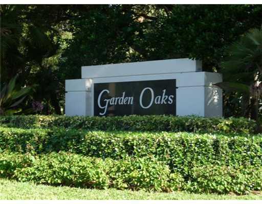 Garden Oaks Sign