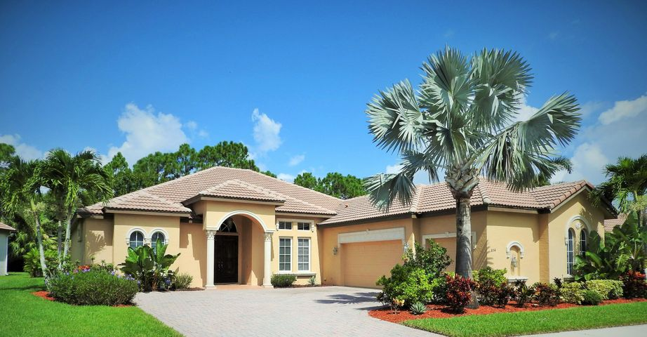 Elegant Venezia model in the gated community of the Vineyards, St. Lucie West.  You will love this model with open kitchen area, beautiful preserve view.  4 bedrooms, 3 baths, 3 car garage.  Impact windows, newer AC units with 10 years warranty, newer over with steam injection, gas stove and gas dryer.