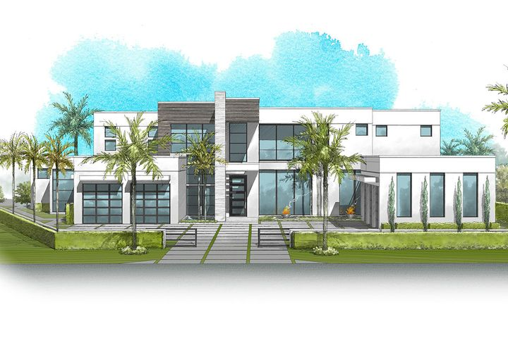 444 Coconut Palm Road is a new waterfront Signature Estate built by SRD Building Corp, to be completed in September 2020. This magnificent home sits on 159 of the Buccaneer Palm Waterway in Boca Raton's most sought-after community, Royal Palm Yacht & Country Club. Home features 6 bedrooms, 7 full and 2 half bathrooms, 9,735 sqft under air, and a 5-car garage plus golf cart. The large open floor plan has a great room, gourmet kitchen, breakfast area, clubroom with equipped bar, formal dining room, and library. Other features include 1st and 2nd-floor laundry rooms, 2nd-floor media room, outside entertaining areas and a heated pool with sundeck and spa. Buyer to pay documentary stamp taxes on the deed and title insurance.