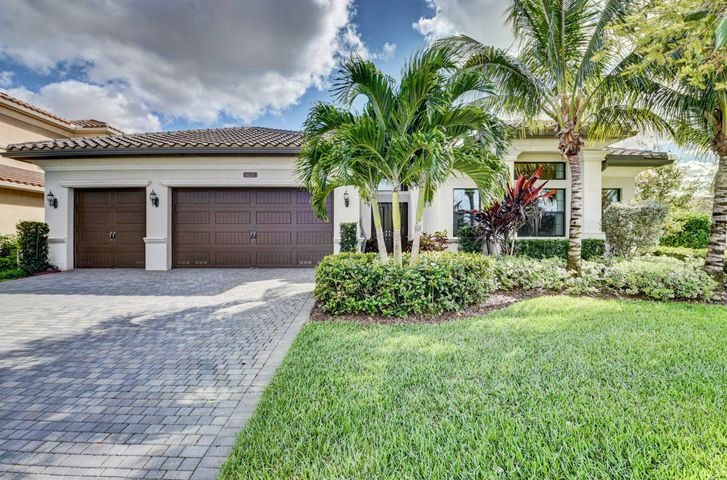 STUNNING 3 BR. + CLUB ROOM + OFFICE, 3 1/2 BTH,,3 CAR GARAGE VENETIAN  MODEL HOME,  SITUATED  ON  1/3 OF AN ACRE CORNER FENCED IN PRIVATE LOT.   CUSTOM POOL, EXTENDED PAVERS, & BEAUTIFUL LANDSCAPING. GUTTERS ON ENTIRE HOUSE. THERE IS  A FULL HOUSE GENERATOR!   DECORATED BY AN INTERIOR DESIGNER.  LITE & BRITE!  DESIGNER FIXTURES & FANS!  24X24  PORCELAIN TILE FLOORS!  STATE OF THE ART KITCHEN W/STACK CABINETS, UPGRADED QUARTZ COUNTER TOPS, UPGRADED BACK SPLASH, HIGH END APPLIANCES, SINGLE SINK W/ NEW FAUCET. BATHROOM MIRRORS HAVE WOOD TRIM.   DESIGNER DRAPES & ELECTRIC BLINDS, CUSTOM WALLPAPER, DECORATIVE MOLDING IN TRAY CEILINGS, & CROWN MOLDING! IMPACT GLASS WINDOWS & DOORS. GAS APPLIANCES, CUSTOM DESIGNED CLOSETS.  CLUB ROOM & OFFICE HAVE BUILT INS.  EXTRA HIGH HATS.  HIT MORE!! HERE IS YOUR OPPORTUNITY TO HAVE COUNTRY CLUB LIVING W/OUT COUNTRY CLUB FEES. EXPERIENCE THE TREMENDOUS LIFESTYLE & ENJOY ALL THE AMENITIES THAT THE SEVEN BRIDGES HAS TO OFFER. SEVEN BRIDGES IN DELRAY BEACH IS THE ULTIMATE LUXURY COMMUNITY THAT HAS IT ALL. ONE OF FLORIDA'S MOST ELEGANT NEIGHBORHOODS. THERE IS A BREATHTAKING ENTRY, GORGEOUS RESIDENCES & WORLD CLASS AMENITIES. BEAUTIFUL STATE OF THE ART 30,000 SQUARE FT. CLUBHOUSE WHICH HAS AN ON SITE RESTAURANT, RESORT STYLE POOLS, GYM, INDOOR AND OUTDOOR BASKETBALL COURT, 13 TENNIS COURTS WITH AN ON SIGHT TENNIS PRO. WATER PARK! EXERCISE CLASSES ARE INCLUDED IN HOA! RELAX IN SAUNAS AND MASSAGE ROOM. GREAT SCHOOLS! MINUTES FROM DELRAY MARKETPLACE, THE TURNPIKE  AND BEACHES!