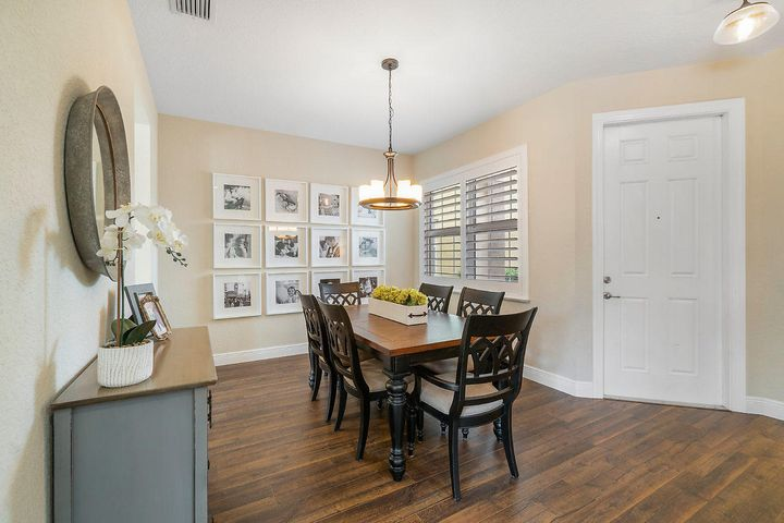 Formal dining room with Plantation shutters