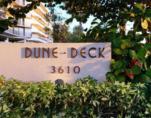 dune deck  sign