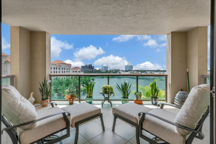 Expansive Balcony with Water View