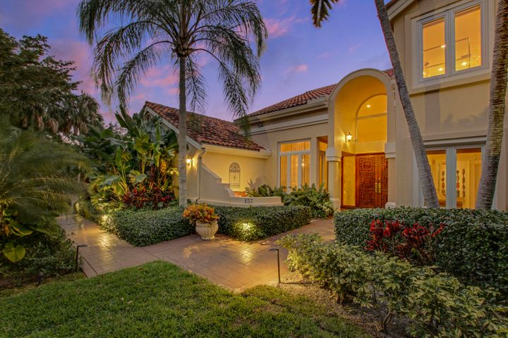 Twilight front to driveway