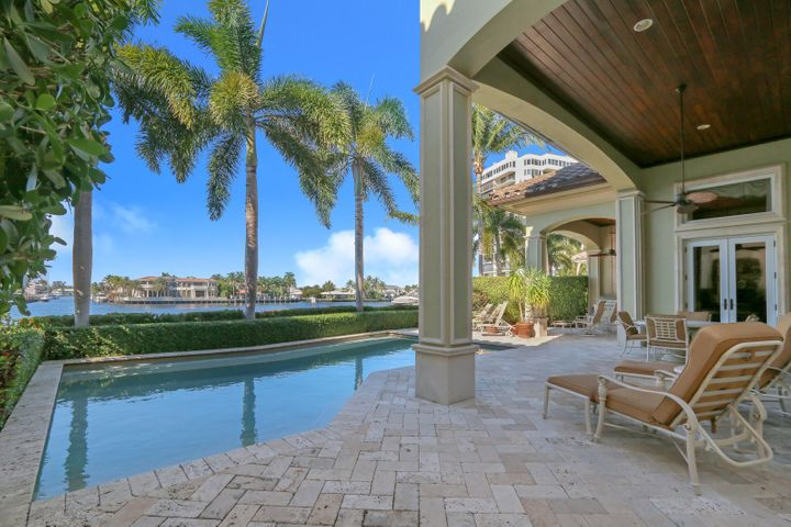 Tranquil Waterfront Pool and Patio