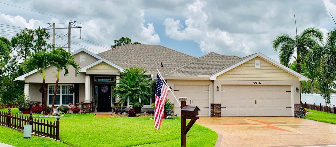 This Gorgeous home is located in a highly regarded Torino Neighborhood here in Port St. Lucie. It is a turn key ready 4/3 craftsmen custom home in a tranquil cul-de-sac. It features an open concept with upgrades throughout such as PVC waterproof wood floors, Custom molding & Custom light fixtures.  The master suite has large walk-in closets & custom lighting just below the ceiling.The spacious kitchen is a chef's dream, since it comes with stainless steel appliances, Wood cabinets, etc. The front & back yard landscaping is well maintained & truly is a beautiful breathtaking view of your palm trees. Property includes a Simplisafe alarm system attached to all doors and windows. Less than 3 miles from the NY Mets Spring Training Stadium among other top area attractions, shopping and dining.