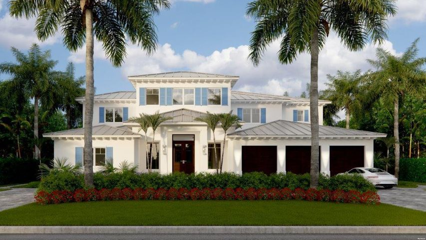 """''New'' Royal Palm Intracoastal Masterpiece with a West Indies-Inspired or Transitional Modern-Inspired Architecture (See Renderings) by prestigious Bloomfield Construction, Inc. sited on 96 +/- feet of waterfrontage on sought-after Royal Palm Way.  Clean and sleek interiors feature window walls of glass facing the Intracoastal.  Luxe master retreat with dual baths, wardrobes and covered balcony.  Resort-style pool patio with entertainment lanai.  Royal Palm Yacht and Country Club membership is separate and not affiliated with RPIA home ownership. DISCLAIMER: The written and verbal information provided including but not limited to prices, measurements, square footages, lot sizes, calculations and statistics have been obtained and conveyed from third parties such as the applicable Multiple Listing Service, public records as well as other sources. All information including that produced by the Sellers or Listing Company are subject to errors, omissions or changes without notice and should be independently verified by any prospect for the purchase of a Property.  The Sellers and Listing Company expressly disclaim any warranty or representation regarding all information.  Prospective purchasers' use of this or any written and verbal information is acknowledgement of this disclaimer and that Prospects shall perform their own due diligence.  Prospective purchasers shall not rely on any written or verbal information provided when entering a contract for sale and purchase.  Some affiliations may not be applicable to certain geographic areas. If your property is currently listed, please do not consider this a solicitation. In the event a Buyer defaults, no commission will be paid to either Broker on the Deposits retained by the Seller.  """"No Commissions Paid until Title Passes.""""  Copyright 2019 Listing Company. All Rights Reserved."""