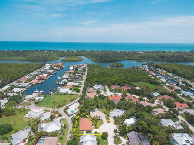 Aerial looking East to Intracoastal and Ocean